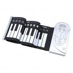 Orga flexibila cu claviatura Roll-Up, 49 clape