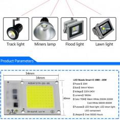 LED COB 10W, 30W, 50W direct la 220V, alb, rosu, albastru, full spectrum