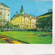 Bnk cp Cluj Napoca - Hotel Continental - circulata - Carte Postala Transilvania dupa 1918, Printata
