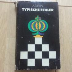 Aleksei suetin typische fehler carte sah fan sport in limba germana berlin 1982, Alta editura