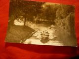 Ilustrata Pitesti - Vedere din Parcul Vasile Roaita , circ. 1964, Circulata, Fotografie