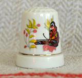 Degetar din portelan, de colectie - tematica : fluture, Decorative