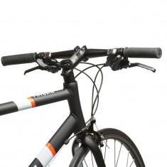 Bicicleta de sosea TRIBAN 500, flatbar, marime XL - Cursiera, 28 inch, Numar viteze: 21, Aluminiu, Negru-Alb