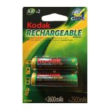 Set 2 acumulatori reincarcabili AA, 2500 mAh, Kodak