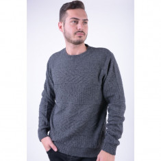 Pulover Selected Charles Crew Neck Dark Grey Melange - Pulover barbati Selected, Marime: L, Culoare: Gri