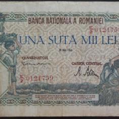 Bancnota 100000 lei - ROMANIA, anul 1946 / Mai *cod 10 - Bancnota romaneasca