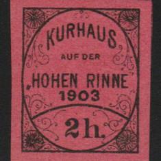 Romania 1903 - Timbru 2h nedantelat Hohe Rinne Emis. IV, posta locala Paltinis, Nestampilat
