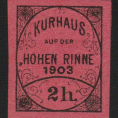 Romania 1903 - Timbru 2h nedantelat Hohe Rinne Emis. IV, posta locala Paltinis - Timbre Romania, Nestampilat