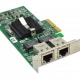 Placa retea Refurbished HP NC360T PCI Express Dual Port Gigabit Server Adapter