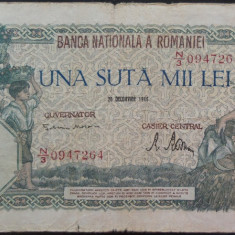 Bancnota 100000 lei - ROMANIA, anul 1946 / Decembrie *cod 21