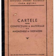 CARTELE CONFECTIUNI SI MATERIALE MINISTERUL APARARII NATIONALE CASA OSTIRII