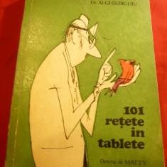 Dr.Al.Gheorghiu - 101 Retete in Tablete - Ed. Medicala 1980, Desene Matty