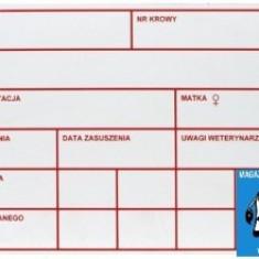 BORDEROU PENTRU VACĂ - Bovine