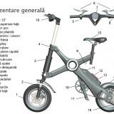 Bicicleta Devron Pliabila X3 Electrica Culoare AlbPB Cod:31712X3WH - Bicicleta pliabila