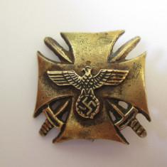 Rara! Decoratie crucea nazista cu spade pentru ofiteri