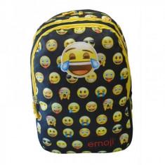Ghiozdan Emoji Faces negru