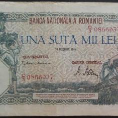 Bancnota 100000 lei - ROMANIA, anul 1946 / Decembrie  *cod 23