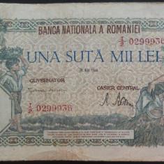 Bancnota 100000 lei - ROMANIA, anul 1946 / Mai *cod 19 - Bancnota romaneasca