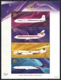 TAILANDA 2010 - AVIATIE - SERIE IN BLOC DE 4 TIMBRE (IN RELIEF) - NESTAMPILATE - MNH / aviatie12