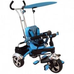 Tricicleta multifunctionala Happy Days Albastru Baby Mix - Tricicleta copii