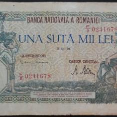 Bancnota 100000 lei - ROMANIA, anul 1946 / Mai *cod 25