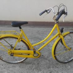 Bicicleta galbena din Olanda - Bicicleta de oras, 28 inch, Numar viteze: 3
