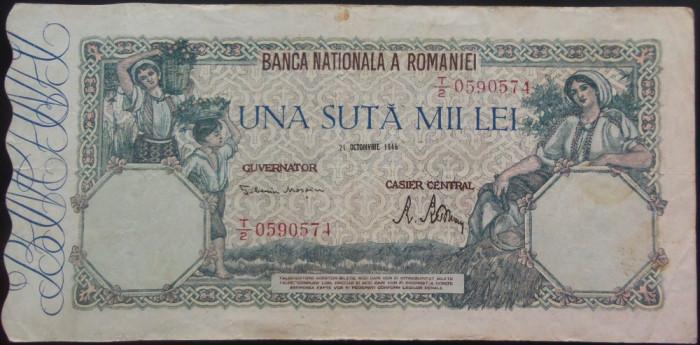 Bancnota 100000 lei - ROMANIA, anul 1946 / Octombrie *cod 35