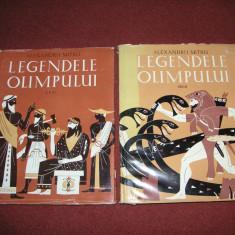 Legendele Olimpului - Zeii, Eroii -Al. Mitru (2 vol.), ilustratii de C. Condacci - Carte mitologie