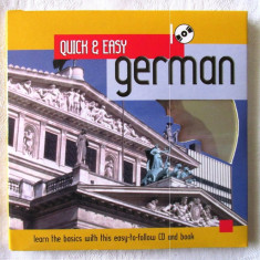 """QUICK & EASY GERMAN. Learn the basics"", Rob Alcraft. Carte + CD. Lb. Germana"