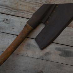BARDĂ ȚĂRĂNEASCĂ DE DULGHER ARIPĂ-DE-GÂSCĂ !DEOSEBITĂ! OȚEL CU MULTE POANSOANE! - Metal/Fonta