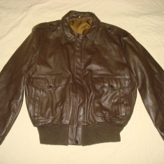 Geaca pilot/aviator/aviatie/barbati/piele naturala/SCHOTT made in USA/vintage - Geaca barbati Schott, Marime: XL/XXL, Culoare: Maro