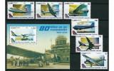 CUBA 2009 - AVIATIE - SERIE DE 6 TIMBRE+BLOC NESTAMPILAT - MNH / aviatie11