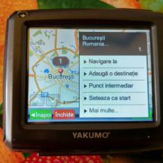 GPS Sistem Navigare YAKUMO EasyGo XSC + card Sd 1GB Kingston, 3, 5, Romania, Car Sat Nav, 16 canale, Sugestii multiple de cai: 1