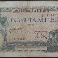 Bancnota 100000 lei - ROMANIA, anul 1946 / Mai *cod 12 - Bancnota romaneasca