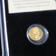Replică BNR după un aureus emis de împăratul Hadrian-MONEDA AUR-250 buc - Moneda Romania, An: 2016, Argint