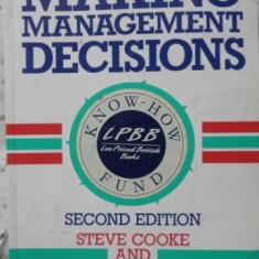 Making Management Decisions - Steve Cooke And Nigel Slack, 401161 - Carte Marketing