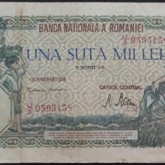 Bancnota 100000 lei - ROMANIA, anul 1946 / Decembrie *cod 39