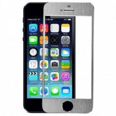 Sticla temperata Tempered Glass Silver aluminium pentru iPhone 5 / 5S / 5C - Folie de protectie