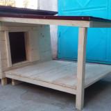 Cusca caini izolata cu terasa - Cusca, cotet, tarc si colivie