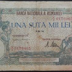 Bancnota 100000 lei - ROMANIA, anul 1946 / Mai  *cod 08