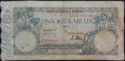 Bancnota 100000 lei - ROMANIA, anul 1946 / Mai  *cod 08 foto