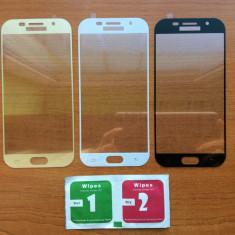 Folie sticla securizata curbata / Full 3D Samsung Galaxy A3 (2017) / A5 (2017)