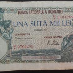 Bancnota 100000 lei - ROMANIA, anul 1946 / Decembrie *cod 22