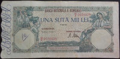 Bancnota 100000 lei - ROMANIA, anul 1946 / Mai  *cod 15 foto