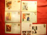 Set 7 Ilustrate -Felicitari cu Pitici 2001-2002