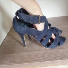 Pantofi cu toc. Zara - Pantof dama Zara, Culoare: Bleu, Marime: 41
