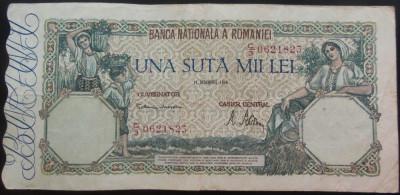 Bancnota 100000 lei - ROMANIA, anul 1946 / Octombrie  *cod 31 foto