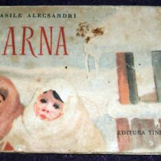 Vasile Alecsandri - Iarna, ilustratii Despina Ghinocastra, editie rara 1955 - Carte poezie copii
