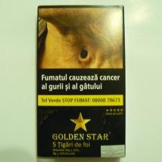 Tigari de foi GOLDEN STAR 45gr X 10 pachete + o cutie tuburi tigarete MAGNUS 200