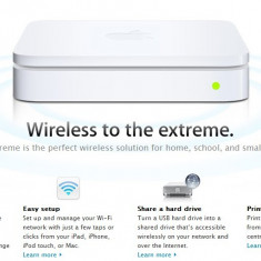 Apple airport extreme A1354 4th Base Station Wireless-N Router - Router wireless, Porturi LAN: 1